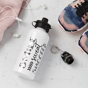 Smile Sweat Succeed Water Drinks Bottle