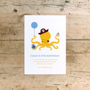 'Pirate Fun' Children's Birthday Party Invitations - children's parties