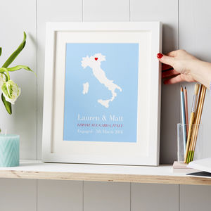 Personalised Treasured Location Print - gifts for her