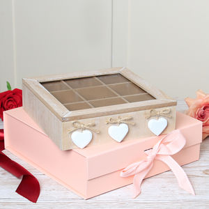 Personalised Mother's Day Wooden Hearts Jewellery Box