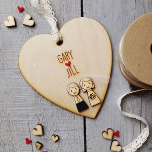 Personalised Wedding Couple Heart - wedding favours