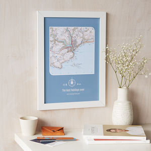 Personalised UK Postcode Map Print - maps & locations