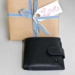 Leather Wallet ~ Rfid Protected - wallets & money clips