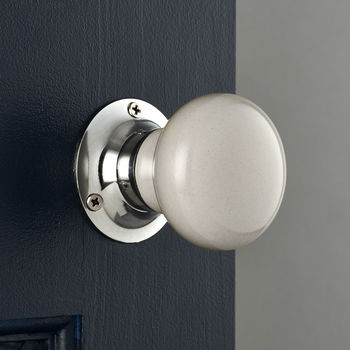Light Grey Ceramic Mortice Door Knobs