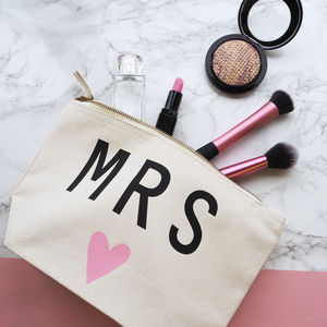 'Mrs' Make Up Bag - bridal party gifts