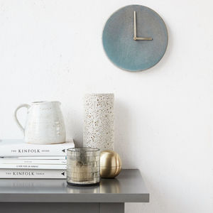 Grey Stoneware Wall Clock - home accessories