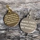 Circular Disc Pet ID Tag