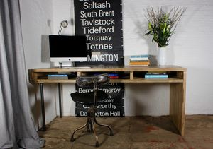 Louise Scaffolding And Pipe Desk With Storage Aperture