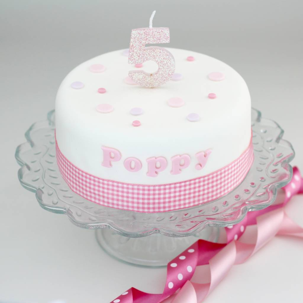 Personalised Girls Birthday Cake Decorating Kit