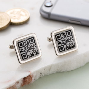 Personalised Qr Code Cufflinks