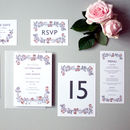 Rose Wreath Wedding Invite Sample