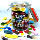 'Happy Christmas' Personalised Retro Sweets Jar