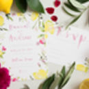 Italian Sorrento Floral Watercolour Wedding Invitations