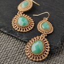 Mint Filigree Drop Earrings