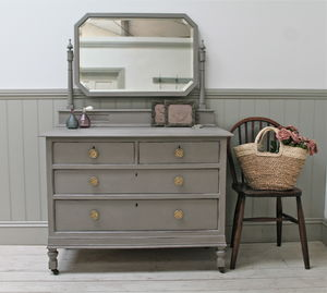 Distressed Painted Oak Dressing Chest - what's new