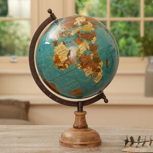 Cabot Mango Wood And Iron Explorer's Globe
