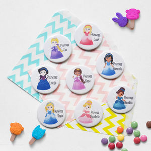 Personalised Princess Birthday Badge - party bags and ideas