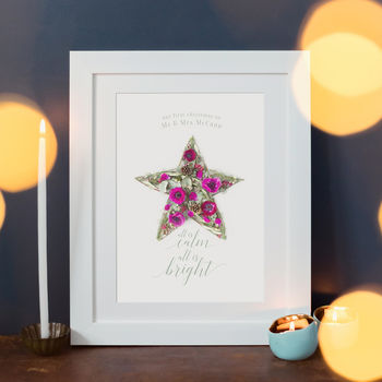 Personalised Our First Christmas Print
