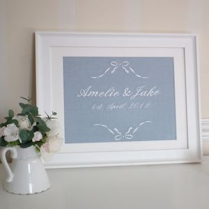Personalised Fourth Wedding Anniversary Linen Picture - 4th anniversary: linen