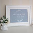 Personalised Fourth Wedding Anniversary Linen Picture