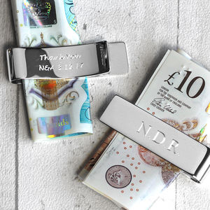 Silver Money Clip - wallets & money clips