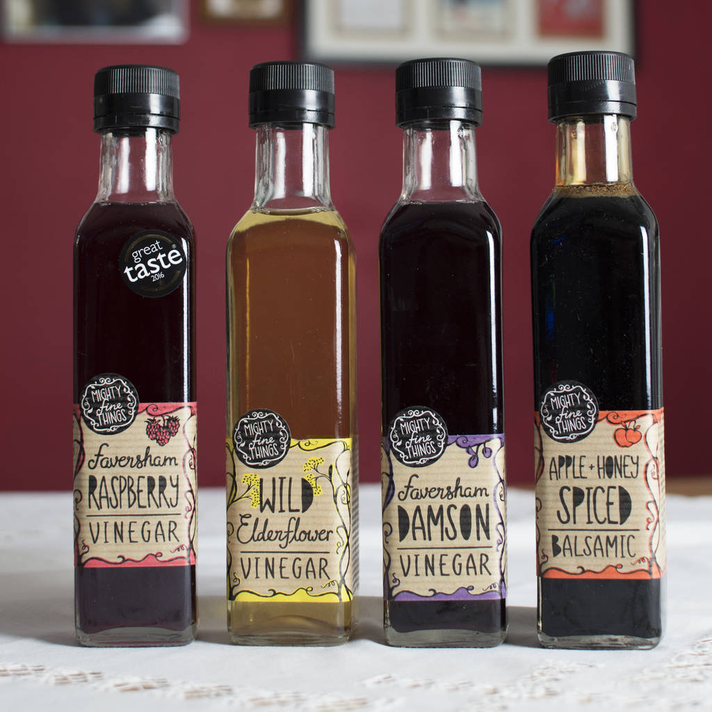 Choice Of Three Fruit And Honey Vinegars