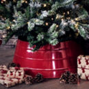 Red Metal Christmas Tree Skirt