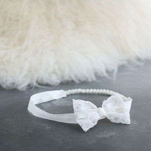 Violet Headband - christening wear