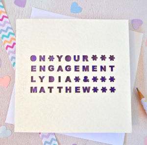 Personalised Laser Cut On Your Engagement Card - shop by category