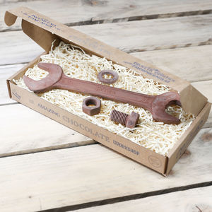 Chocolate Rusty Spanner And Nut And Bolt Gift Box - novelty chocolates