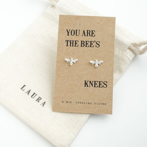 Bees Knees Silver Earrings - earrings