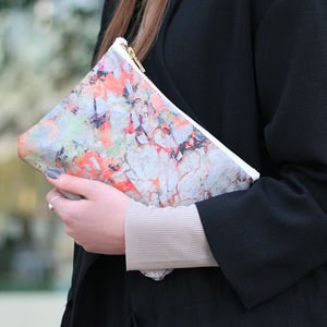 Clara Silk And Leather Bag - bridesmaid accessories
