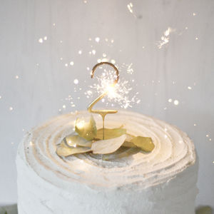Small Gold Number Sparklers - enchanted wedding trend