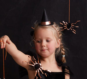 Set Of Eight Mini Witch Hats - fancy dress