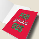 'Fab Yule Ous' Funny Christmas Card