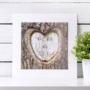 Personalised Carved Heart - 5th anniversary: wood