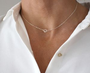 Delicate Silver Choker Necklace