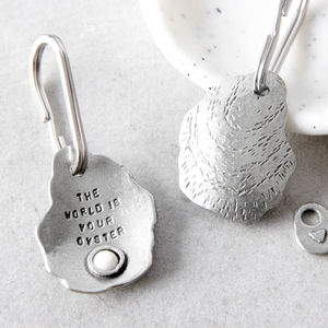 'The World Is Your Oyster' Keyring - new gifts for her