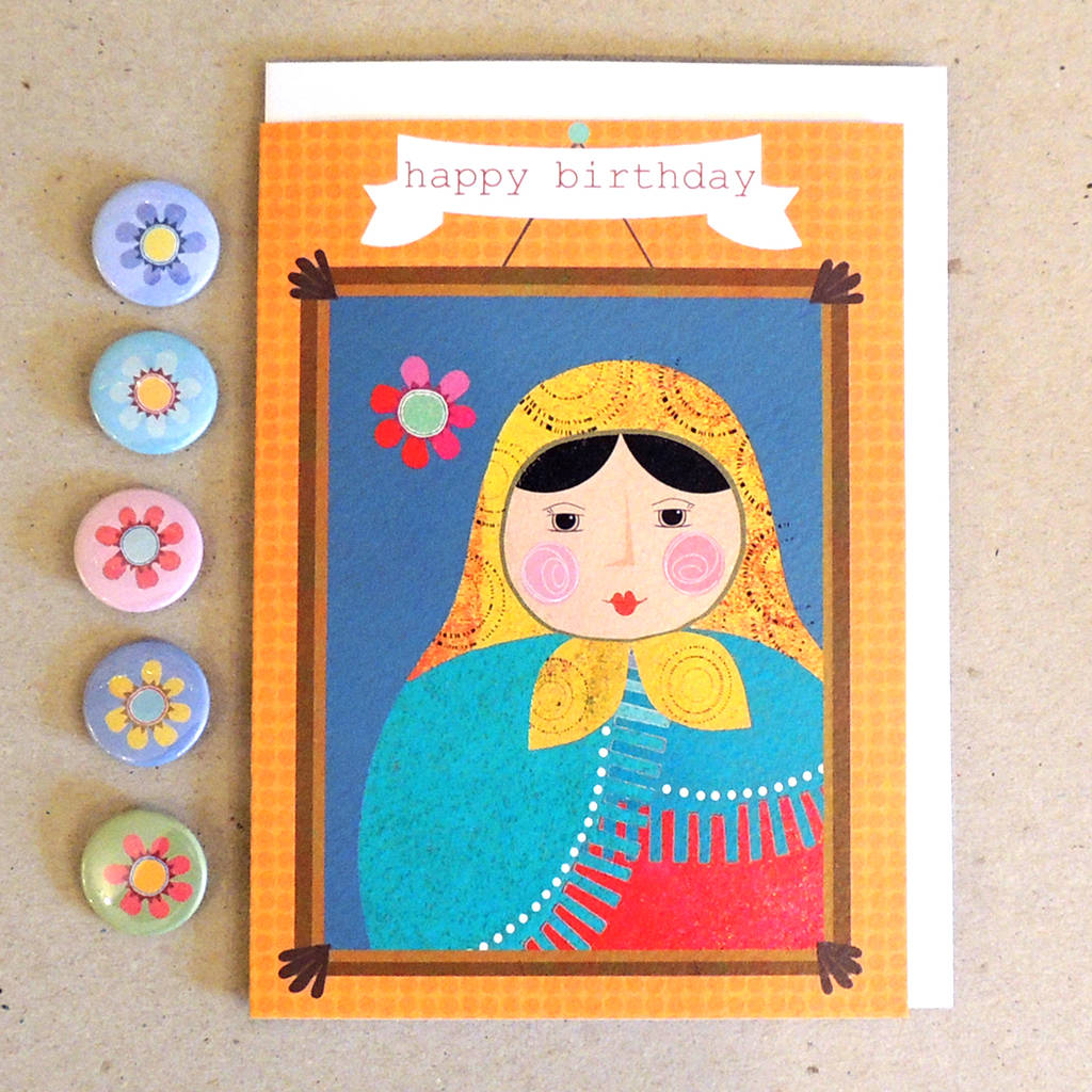 Happy Birthday Russian Doll Card