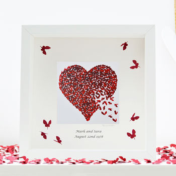 Personalised Ruby Wedding Anniversary Framed Print