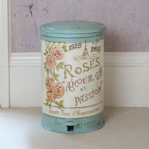 Vintage Roses Armour Pedal Bin - kitchen accessories