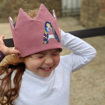 Personalised Children's Initial Linen Crown
