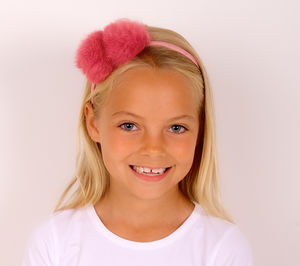 Double Pompom Headband - hair accessories