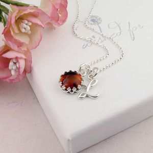 Amber Necklace, Personalised November Birthstone - necklaces & pendants