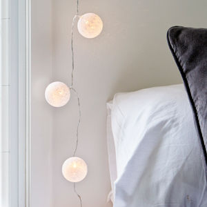 Cotton Ball Fairy Lights - lighting