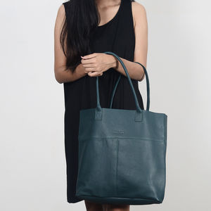 Fairtrade Handcrafted Large Leather Tote Shopper Bag