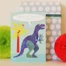 Personalised Bubble Dinosaur Card