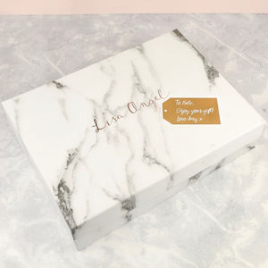 Personalised Large Lisa Angel Marble Gift Box - wrapping