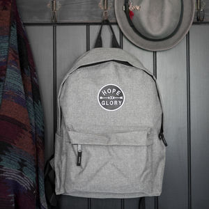 'Hope And Glory' Grey Backpack