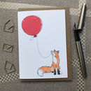 Personalised Fox Birthday Card